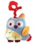BABY MIX Plyšová hračka nejen do kočárku s hudbou - Sova