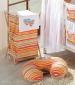 Náhradní potah kojícího polštáře - Proužek pomeranč