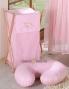 Náhradní potah kojícího polštáře - Kostička růžová