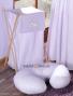 Náhradní potah kojícího polštáře - Pepi fialová