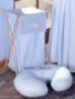 Náhradní potah kojícího polštáře - Pepi modrá