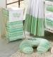 Náhradní potah kojícího polštáře - Proužky zelené