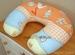 Náhradní potah kojícího polštáře - Čáp pomeranč