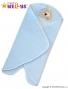 Zavinovací deka do autosedačky Baby Nellys® PEJSEK - modrá