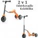 Koloběžka, tříkolka 2 v 1 - oranžová