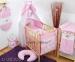 Luxusní mega set s výšivkou Š - Oslík růžová louka
