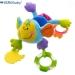 Závěsná edukační hračka s chrastítkem a kousátkem - Opice - modrá