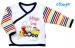 Bavlněná košilka NICOL MAGIC TRAIN - bílá/barevné proužky