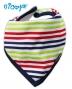 Bavlněný šátek na krk NICOL BAGR - barevný proužek