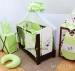 Luxusní 5-ti dílná sada s moskytiérou - Méďové v zelené