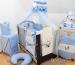 Luxusní 5-ti dílná sada s moskytiérou - Méďové v modré