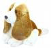 Plyšový pes Bígl sedící, 20 cm
