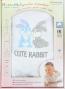Souprava do porodnice v krabičce Mamatti - CUTE RABBIT - bílá