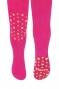 Dětské punčocháče CANDY ABS na kolínkách i šlapkách - malinové/hvězdičky