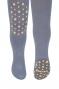 Dětské punčocháče CANDY ABS na kolínkách i šlapkách - šedé/hvězdičky