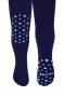 Dětské punčocháče CANDY ABS na kolínkách i šlapkách - granátové/hvězdičky