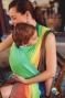 Little FROG Tkaný šátek na nošení dětí - Sunny Ammolite