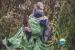 Little FROG Žakárový tkaný šátek na nošení dětí - KISS THE GREEN FROG