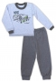 Bavlněné pyžamko NICOL AUTO - melír sv. modrá/tm. šedá