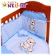 Povlečení do postýlky TEDDY BEAR Baby Nellys - jersey - modré