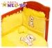 Povlečení do postýlky TEDDY BEAR Baby Nellys - jersey - žluté
