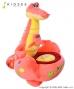 Dětské plyšové křesílko Krokodýlek - oranžová