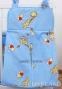 Kapsář na papírové plenky - Žirafky modré