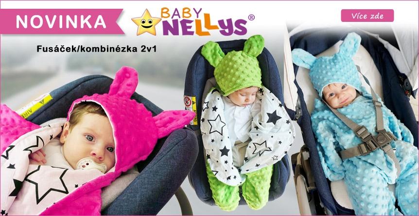 NOVINKA Luxusní fusáček, kombinézka 2v1 Baby Nellys