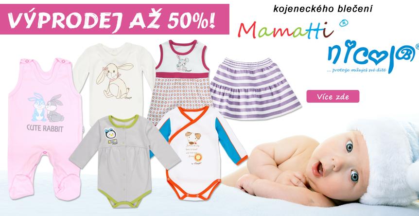 Výprodej oblečení Nicol a Mamatti slevy až 50%