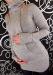 Těhotenský svetřík Lízátko - šedá