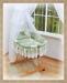 Koš s výbavou Darland - Patchwork zelený - bílá…