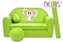 Rozkládací dětská pohovka Nellys ® Myška v zeleném