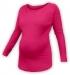 Těhotenské tričko dlouhý rukáv LENKA - sytě růžové