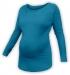 Těhotenské tričko dlouhý rukáv LENKA - petrolejové
