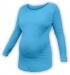 Těhotenské tričko dlouhý rukáv LENKA - tyrkysové